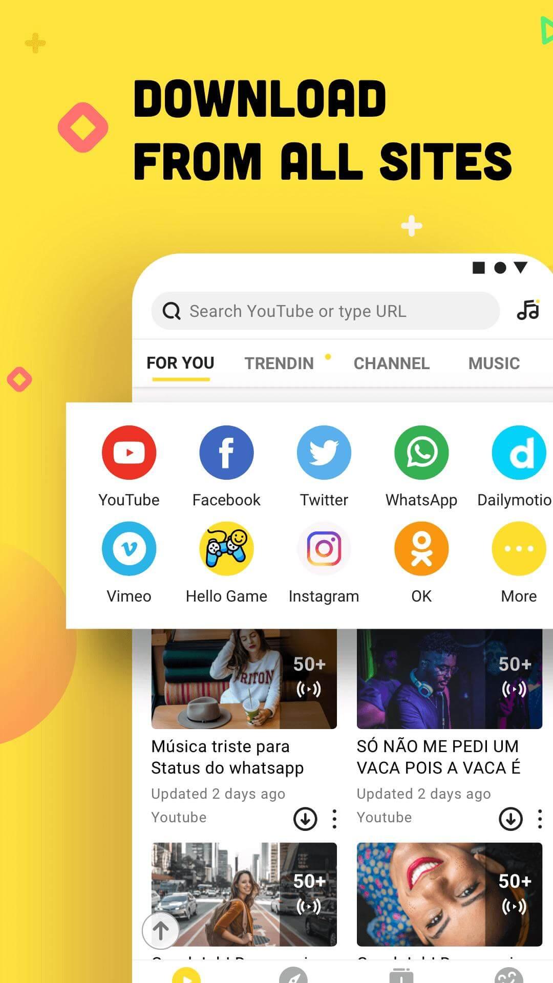 تحميل تطبيق سناب توب Snap Tube الأصفر للاندرويد من ميديا فاير